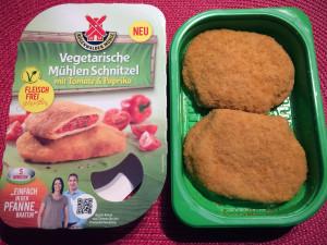 Vegetarische Mühlen Schnitzel Tomate Paprika
