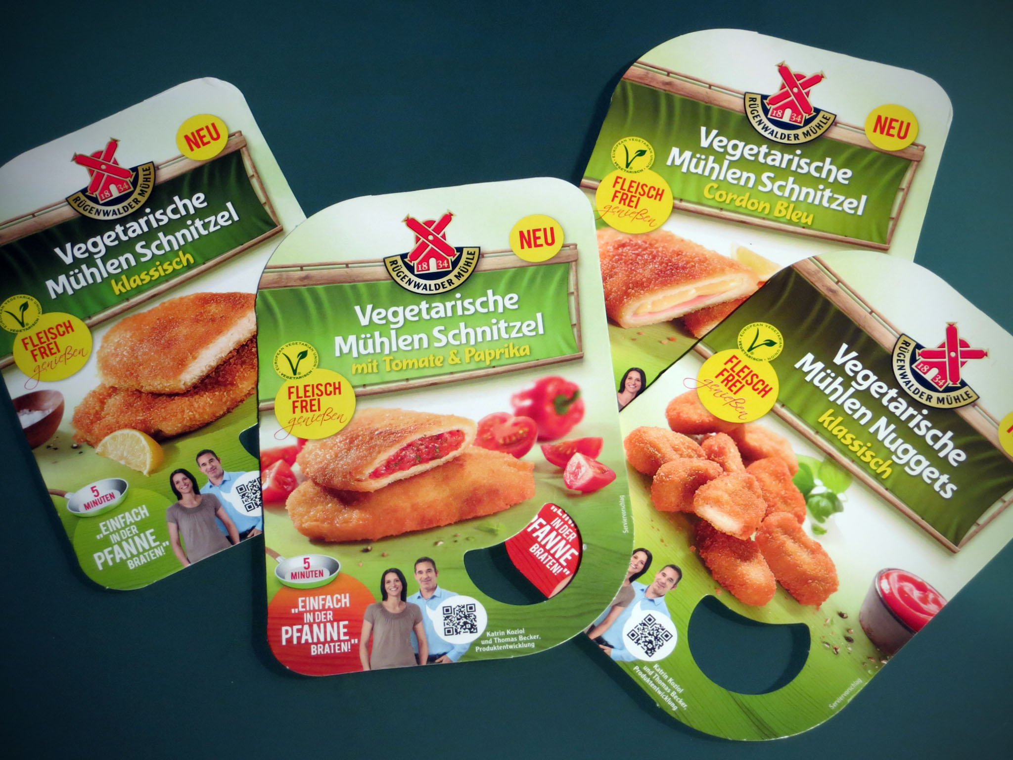 Vegetarische Mühlen Schnitzel und Nuggets von Rügenwalder