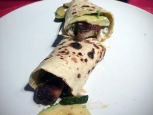 Wrap vegetarisch mit Mühlen Nuggets aufgeschnitten