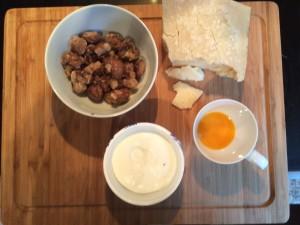 Ravioli mit Maronenfüllung, Zutaten