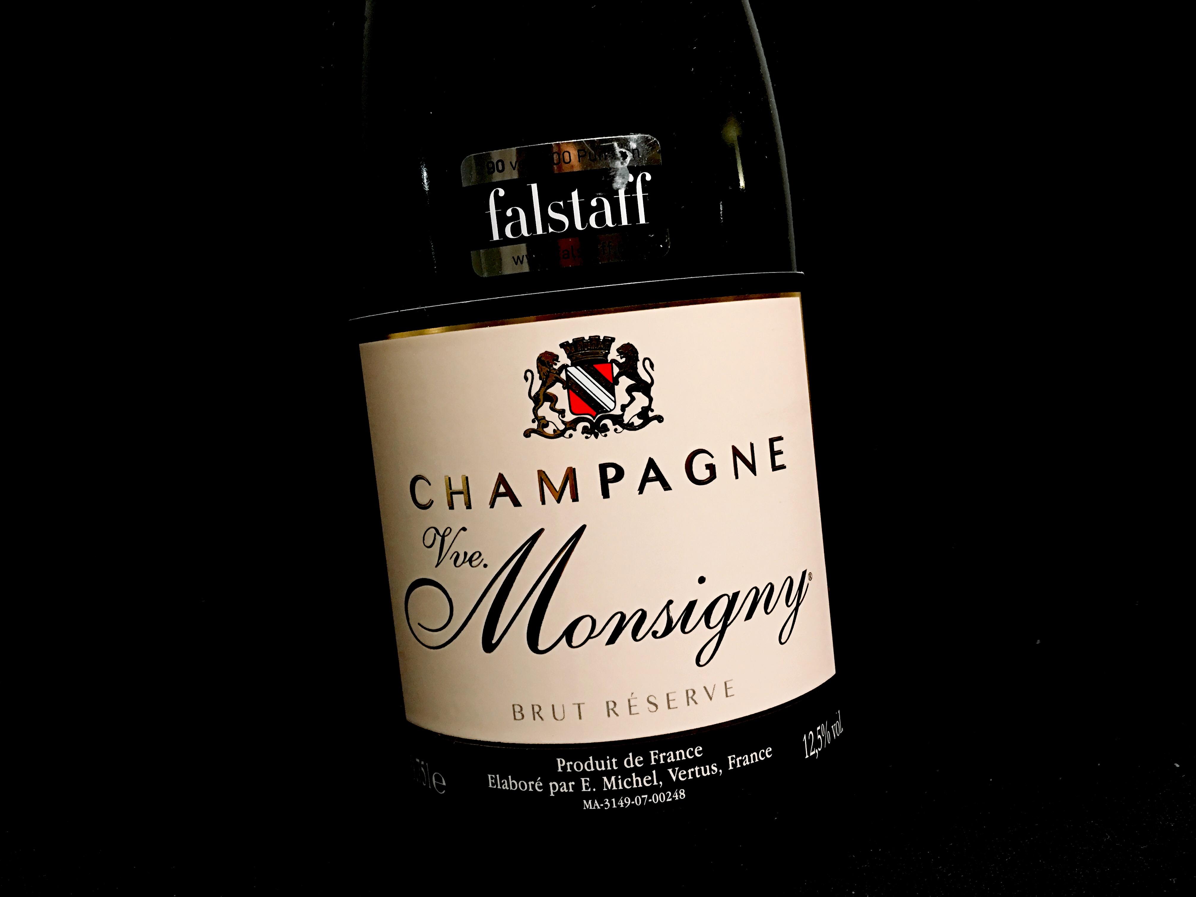 Champagner Veuve Monsigny Brut Etikett vorne