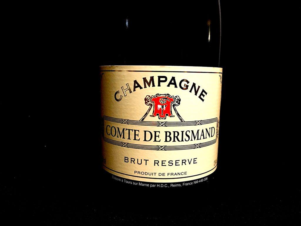 Champagner Comte de Brismand Etikett vorne
