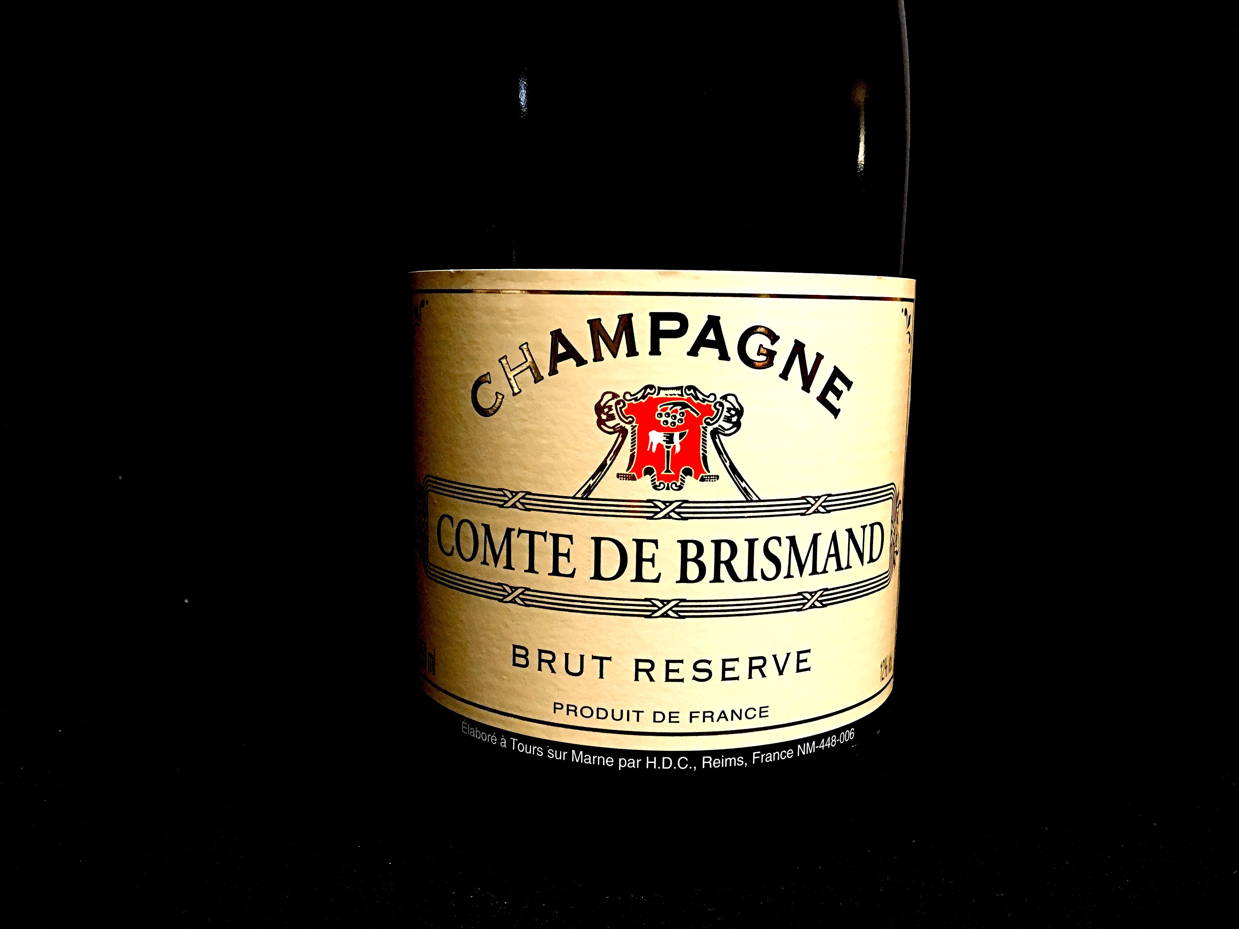 Champagner Comte de Brismand Etikett von vorne