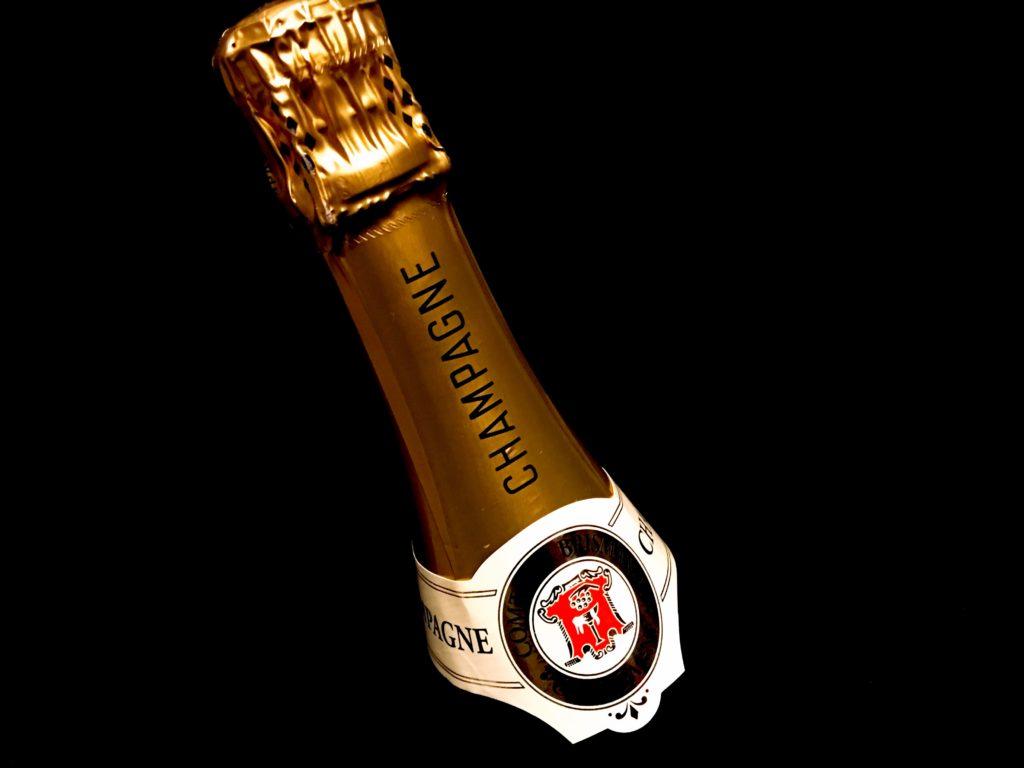 Champagner Comte de Brismand Flaschenhals