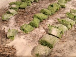Bärlauch Gnocchi Nocken formen