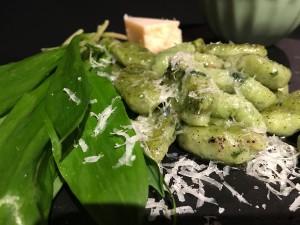 Bärlauch Gnocchi mit Parmesan