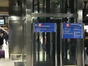 Metro Station Linie 8 Aeropuerto