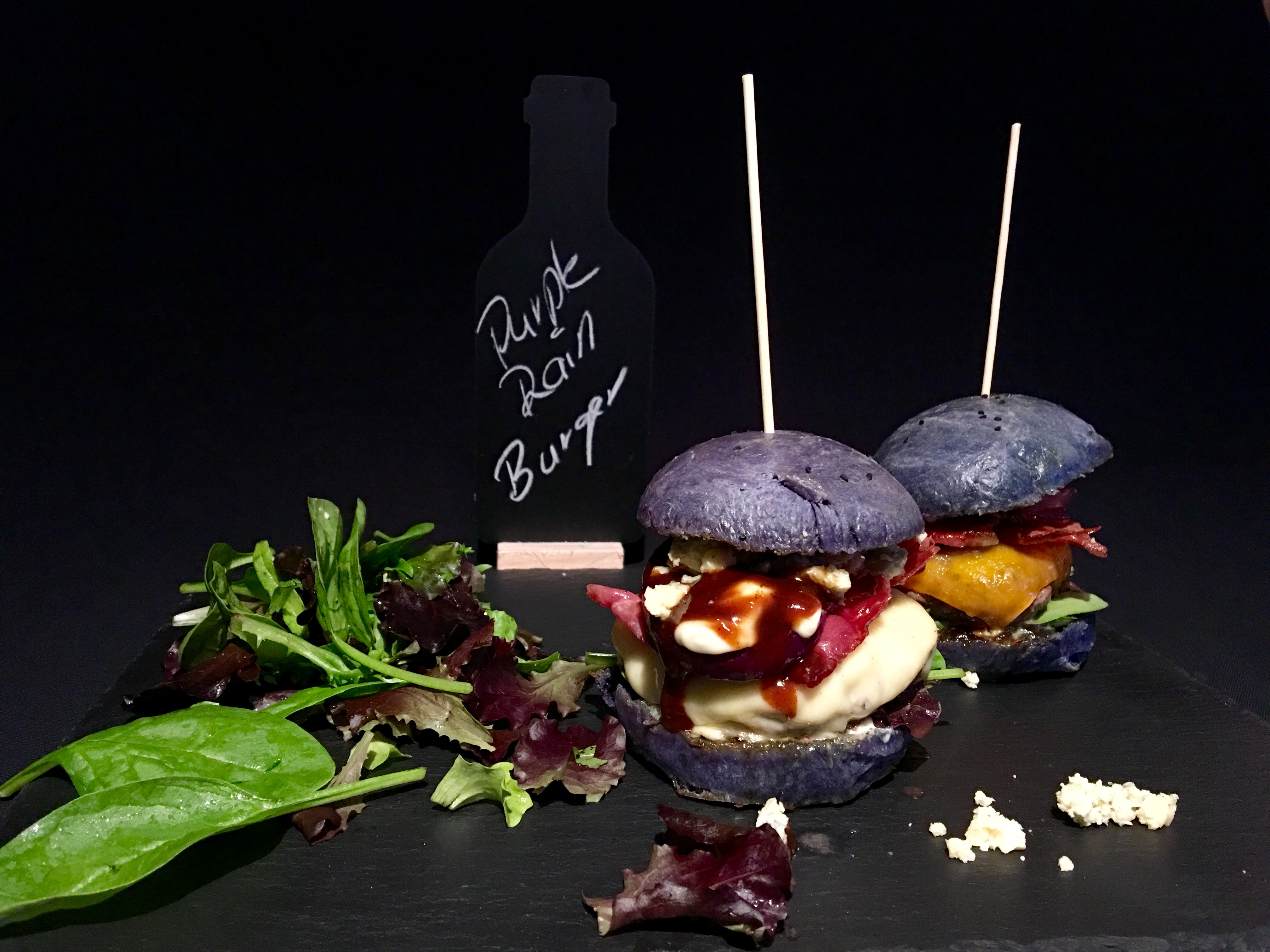 Purple Rain Wagyu Beef Burger