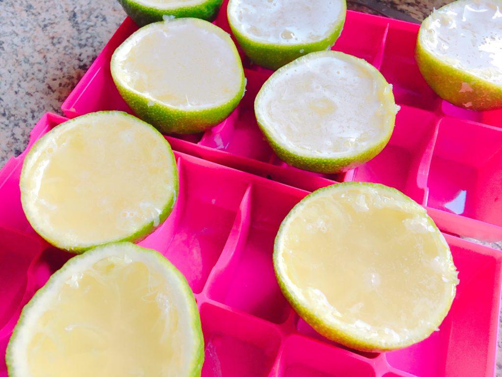 Limetten aufgefüllt für die Jello Shots