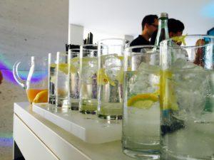 Applaus Gin Tasting mit Tonicwasser, Zitrone und Zeste