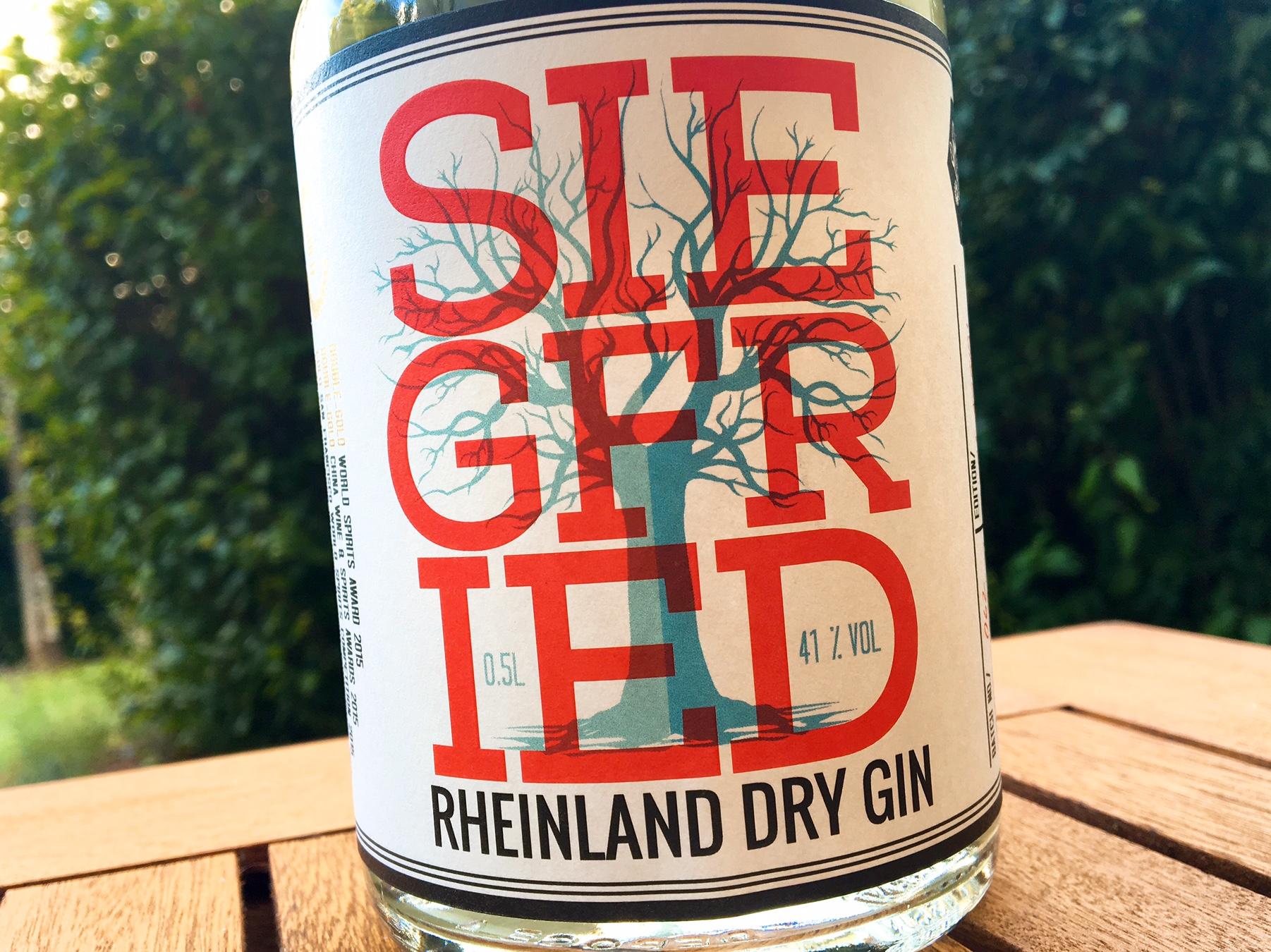 Siegfried Rheinland Dry Gin Etikett