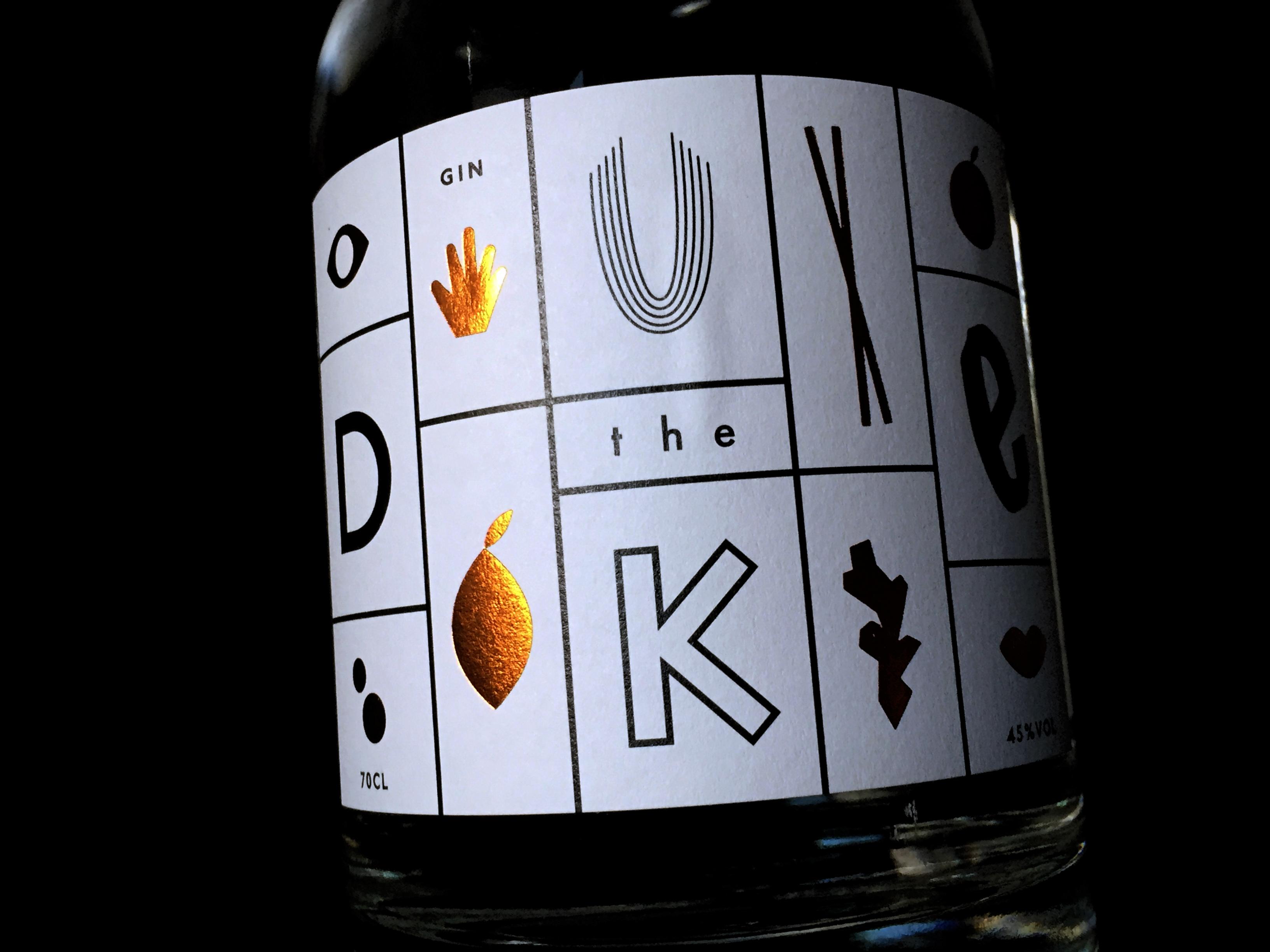The Duke Gin von vorne