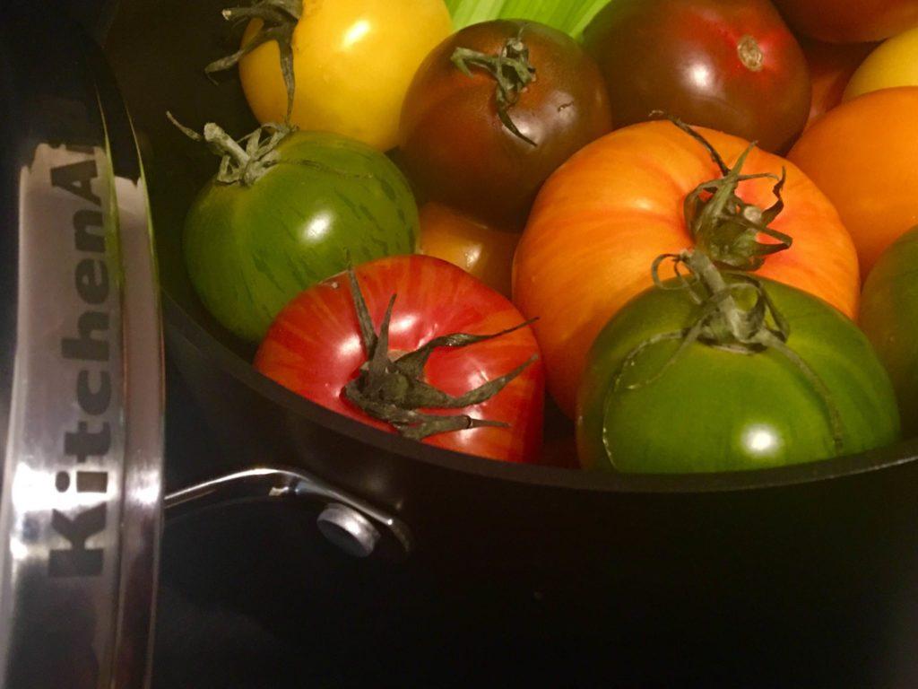 Zutaten für die Tomatensuppe mit Gin