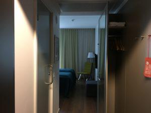 Scandic Oslo Airport Zimmer 222 Eingang