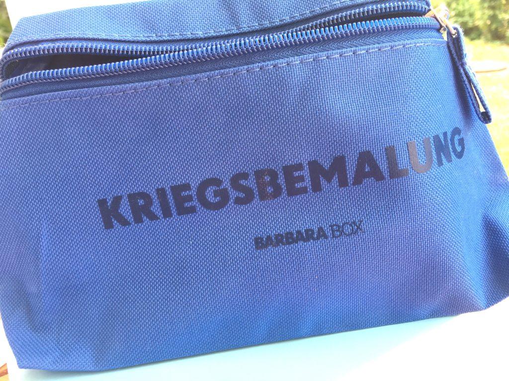 Barbara Box 2 - Kosmetiktasche Kriegsbemalung