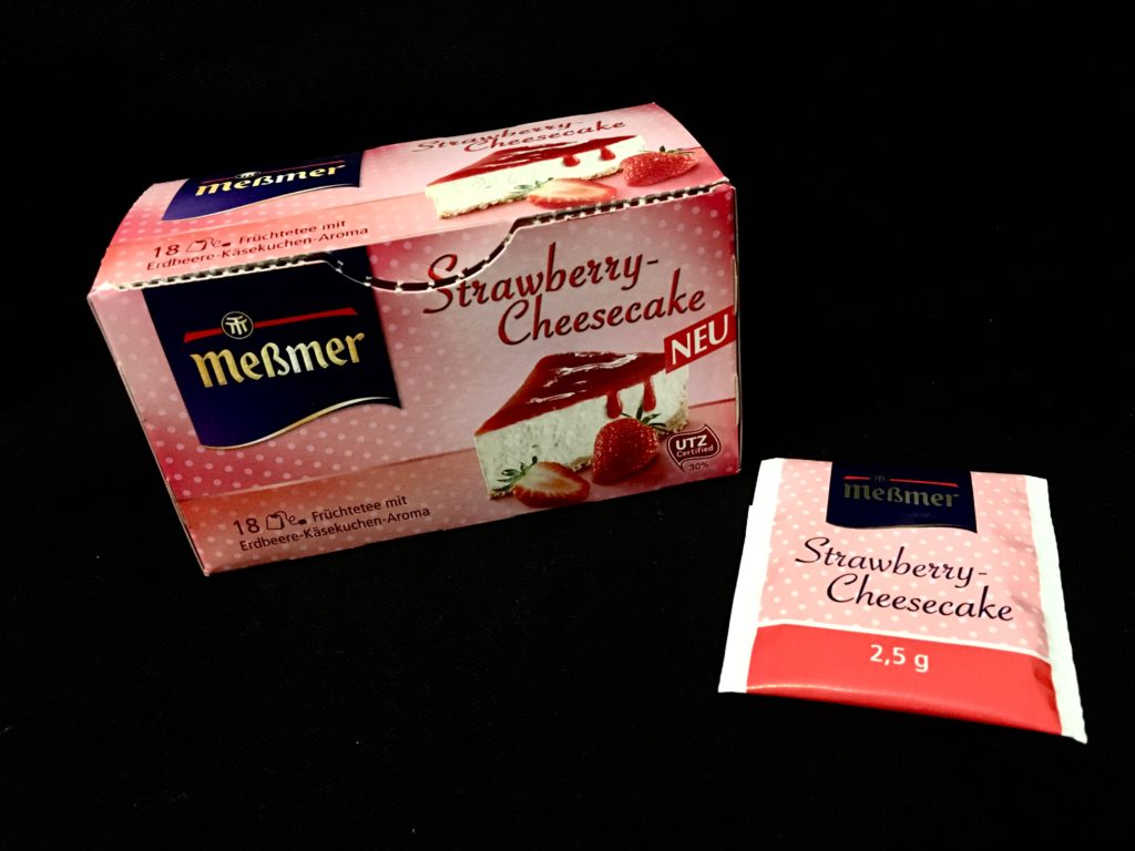Messmer Kuchentee Strawberry Cheesecake