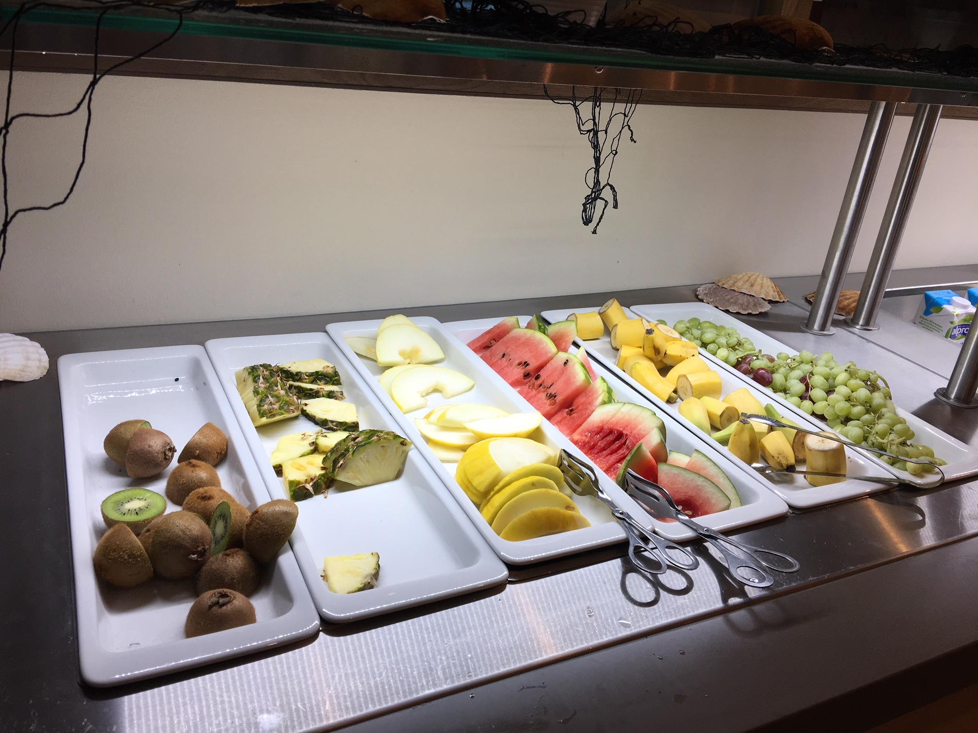 Gardermoen Airport Hotel, es wird frisches Obst angeboten