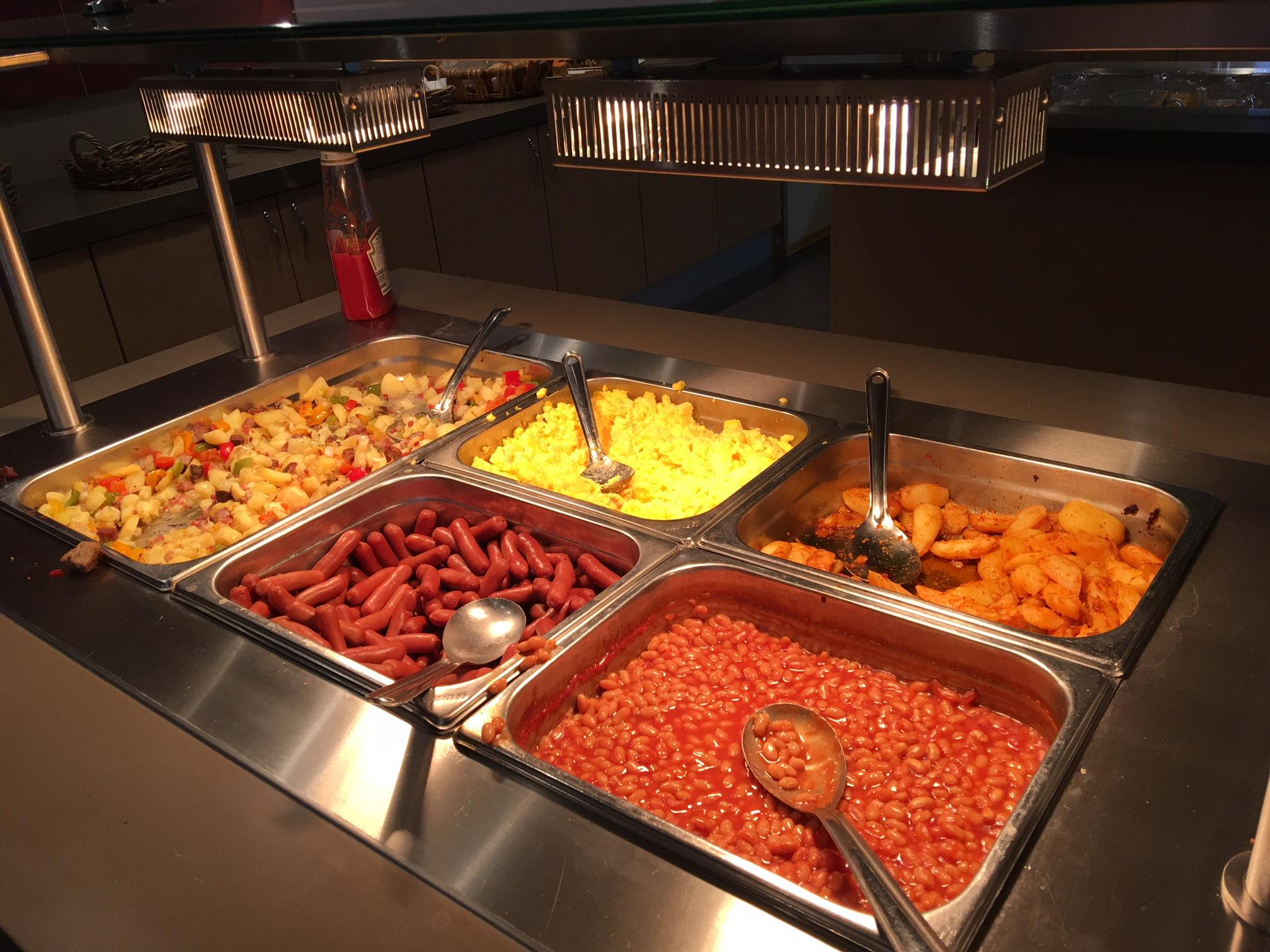 Gardermoen Airport Hotel, warmes Buffet